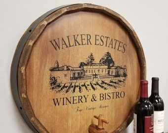 Wine Barrel Decor Etsy