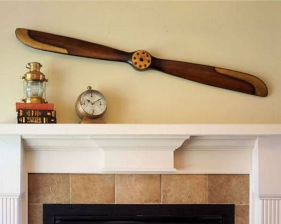 Engraved 70 Inch 1917 Replica Wood Airplane Propeller