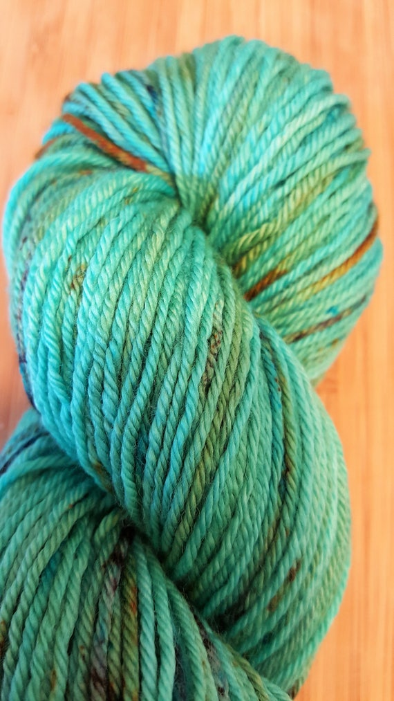 04afe9e96873f Hand dyed Yarn Weathered Copper Beautiful Teal