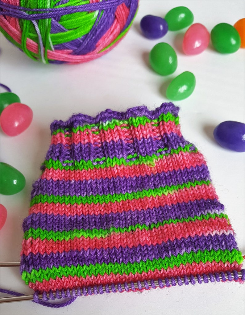 35d4df3c9627 Self Striping Sock Yarn Easter Bunny Beans