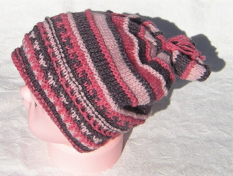 Children/'s hat knitted with soft colors Christmas gift