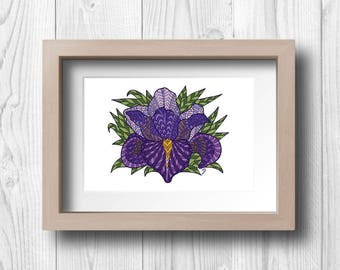Purple Iris - Printable Wall Art
