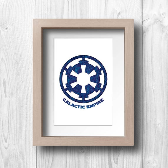 Galactic Empire Symbol Printable Wall Art Etsy