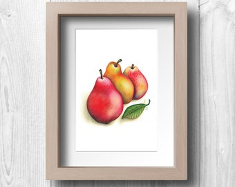 Three Pears - Printable Wall Art