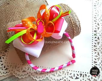 Summer Flip flop girls woven headband