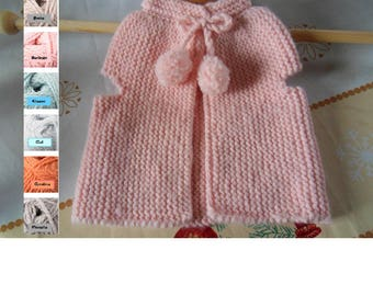 Berger's vest for girls 9/12 to 18/24 months- On order