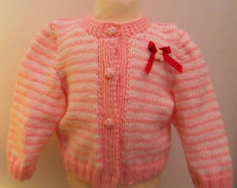 Pink and white jacket for 6-month-old girl