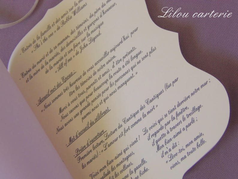 Wedding Personalized Mass Booklet Etsy