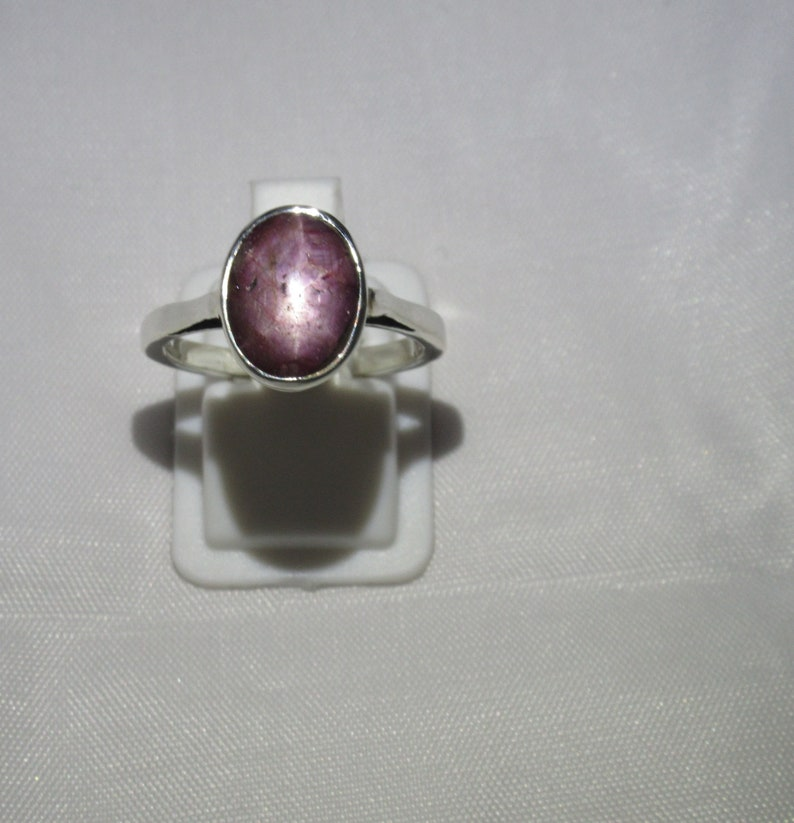 Star Ruby Ring 92.5 solid sterling silver Gemstone Ring Natural Ruby Star Ring Size US 7 12  BR 135