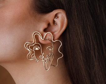 Knot Earrings Artistic Earrings Sterling Silver Statement Earrings Silver Knot Earrings Silver Earrings Unique Art Earrings