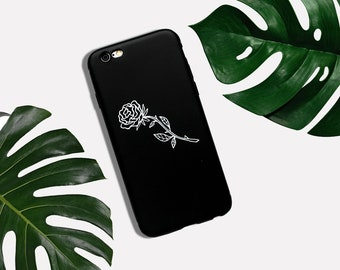 Rose Black White IPhone Case