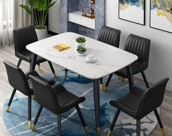 Marble Dining Table Etsy