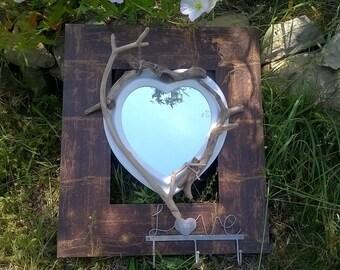 Driftwood mirror hanger