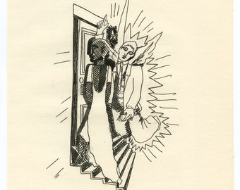 Renaud and Armide 2 - Original LITHOGRAPH Edition 1957 by MOURLOT Jean COCTEAU