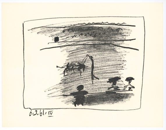 cf271caa0a9 Pablo Picasso Les Banderilles original lithograph