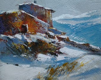 """""""shelter"""" original painting done with palette knife"""