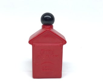 Vintage Avon Fire Alarm Box Spicy After Shave Decanter Bottle Partial Full 4 Oz No Box Free USA Shipping