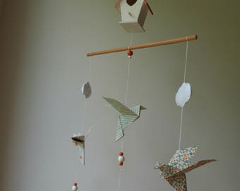 Large Dove Origami Mobile