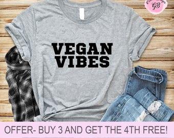 Vegan Vibes T-Shirt, Funny Shirts, sarcastic, Unisex crewneck top tshirt casual wear vegan life animal lover