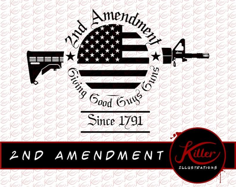 2nd Amendment AR-15 Vector Gun Rights T-Shirt Design Cut ...