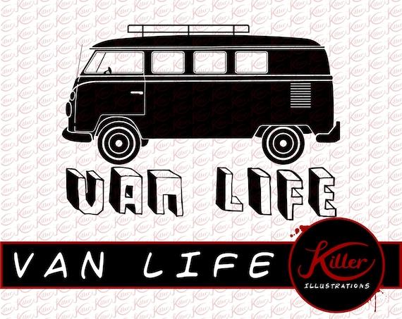 Van Leben Vektor Vw Bus Clipart T Shirt Design Schneiden Etsy