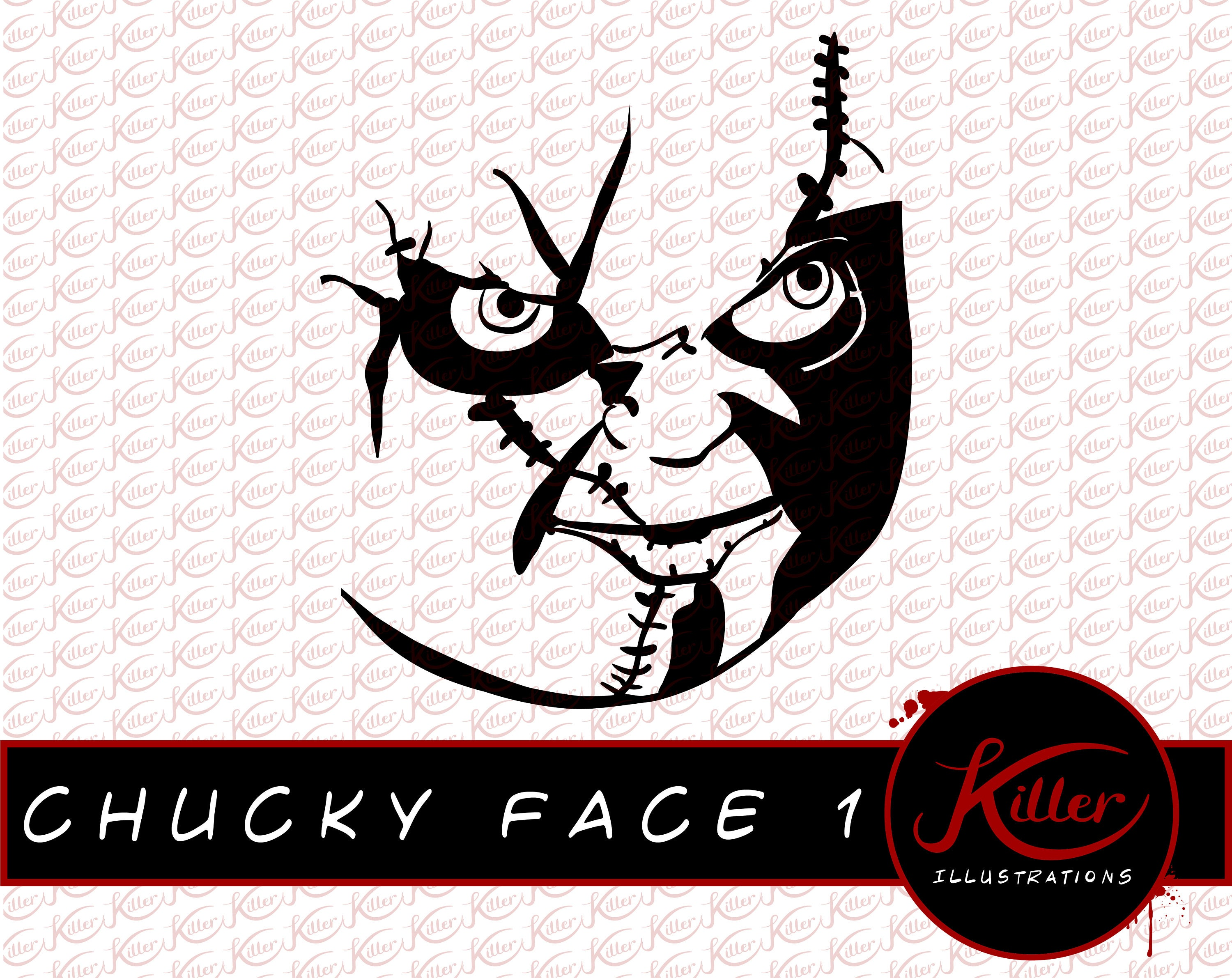Chucky Clipart Black And White