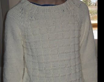 Teen Ecru Irish Wool Sweater