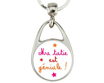 "Keychain ""my Auntie she is awesome"""