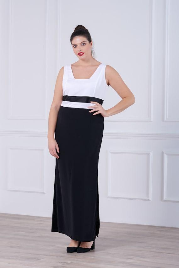 Plus Size Maxi Dress Wedding Guest Dress Evening Gown White Etsy,Open Back Stella York Wedding Dresses