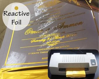 foil invitations etsy