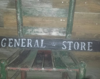Rustic Reclaimed wood General Store Farmhouse style sign
