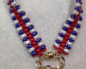 Red, White and Blue Bracelet
