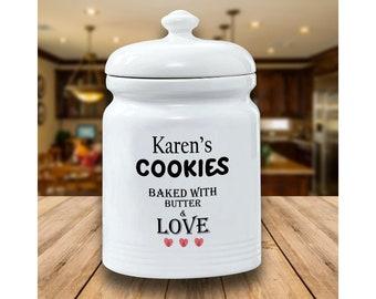 Clay Cookie Jar Etsy
