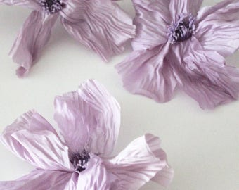Purple large flowers cotton