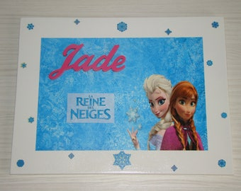 Table Queen from frozen with customization name choice