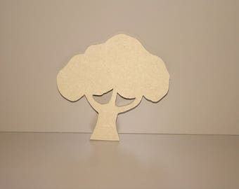 Tree wood mdf backing lank 10.5 cm x 10.5 cm