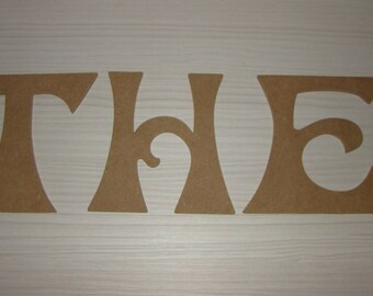 Word THE MDF customize height 18 cm