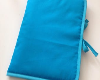Health Book personalize flocking, applique etc. Turquoise color fabric outline choice.