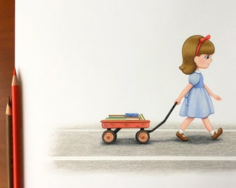 Matilda Original Colored Pencil Fan Art