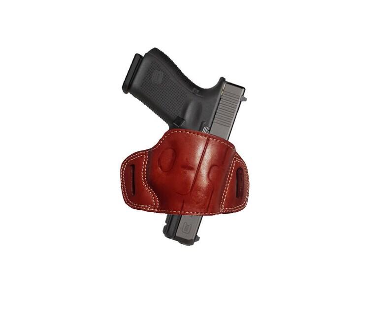 Leather Right handed OWB Belt Gun Holster For GLOCK 17 19 20 22 23 26 27 30  31 32 33 34 35 37 38