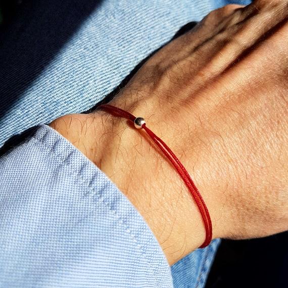 Bracelet rouge femme bracelet rouge homme bracelet protection en argent  bracelet cordon rouge bracelet kabbale bracelet karma 427d533fb58a