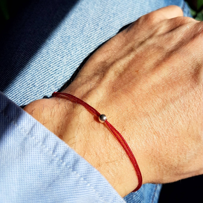 8d11e637852c Bracciale per uomo e donna rosso string Kabbalah bracciale