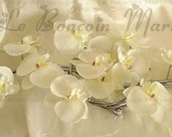 White/silver orchids like to customize Center table