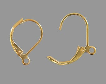 Bag of 20 brackets support earrings sleepers gold metal color / gold-free shipping