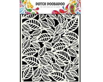Stenciled Dutch Doobadoo Mask Leaves A5 new stencil Art