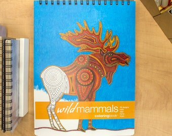 Wild Mammals Adult Coloring Book (8.62 x 11.75 inches)