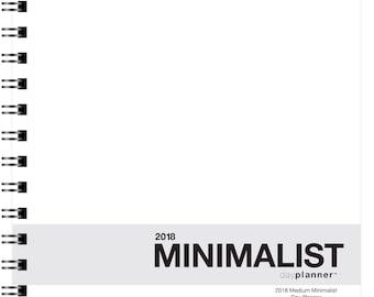 2018 Minimalist Day Planner (January - December)