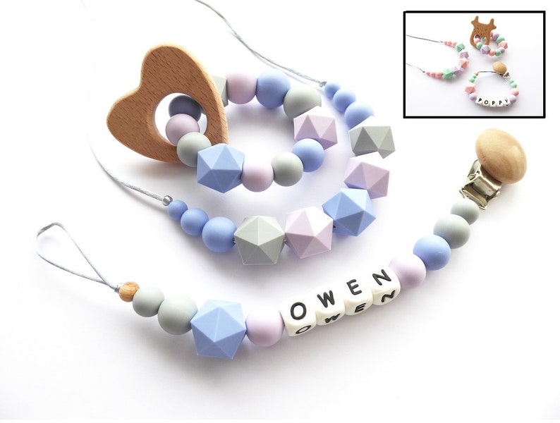 Bpa Free Silicone Alphabet Pacifier Clips Food Grade Jewelry Rose Flower Teething Beads Pendant Necklace Chew Toy Soother Holder The Latest Fashion Feeding Mother & Kids