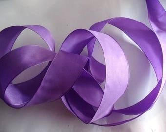COLOUR No. 1670 PURPLE satin ribbon 5 meters