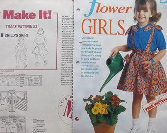 pattern sewing MAKE IT - SKIRT with braces girl REF. 53